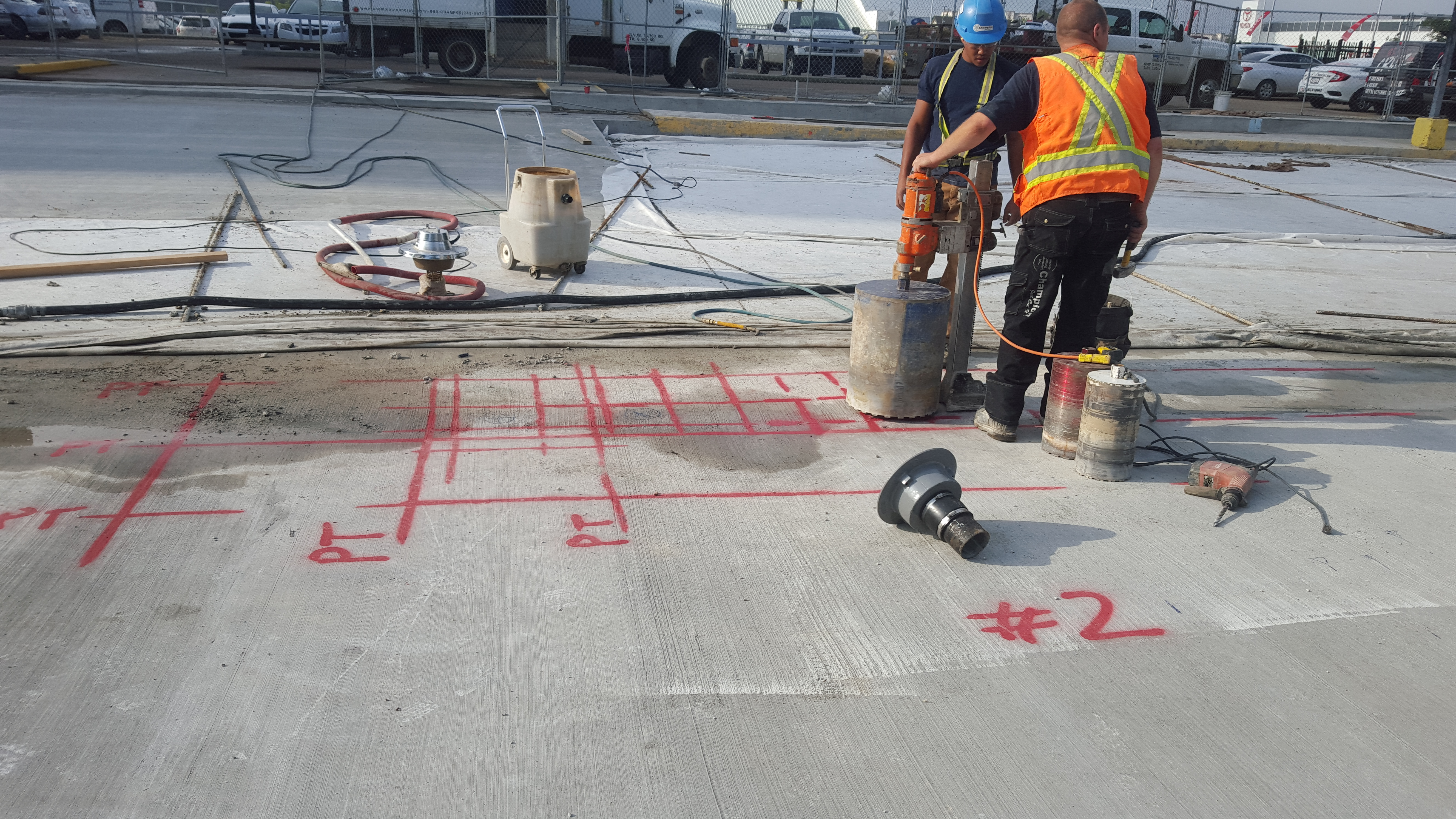 Post tensioned cable mapping in Le Duc, AB – GPR Concrete